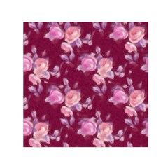 Vintage Roses Small Satin Scarf (square)