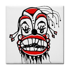 Dark Clown Drawing Tile Coasters