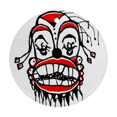 Dark Clown Drawing Ornament (Round)