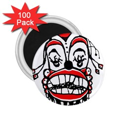 Dark Clown Drawing 2.25  Magnets (100 pack)