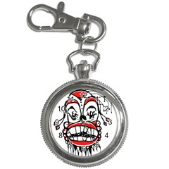 Dark Clown Drawing Key Chain Watches