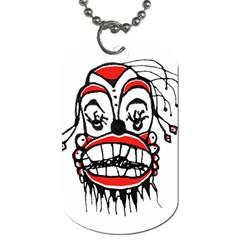 Dark Clown Drawing Dog Tag (One Side)