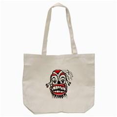 Dark Clown Drawing Tote Bag (Cream)