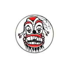 Dark Clown Drawing Hat Clip Ball Marker