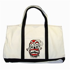 Dark Clown Drawing Two Tone Tote Bag