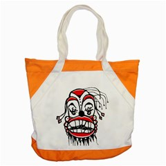 Dark Clown Drawing Accent Tote Bag
