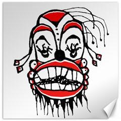 Dark Clown Drawing Canvas 20  x 20