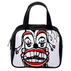 Dark Clown Drawing Classic Handbags (One Side)