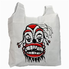 Dark Clown Drawing Recycle Bag (Two Side)