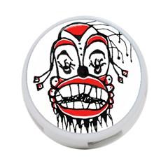 Dark Clown Drawing 4-Port USB Hub (Two Sides)