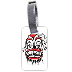 Dark Clown Drawing Luggage Tags (One Side)