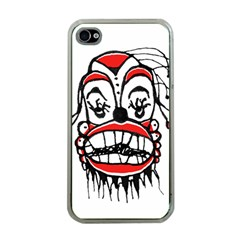 Dark Clown Drawing Apple iPhone 4 Case (Clear)