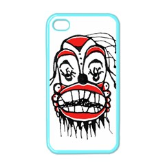 Dark Clown Drawing Apple iPhone 4 Case (Color)
