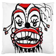 Dark Clown Drawing Large Cushion Cases (Two Sides)