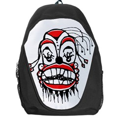 Dark Clown Drawing Backpack Bag