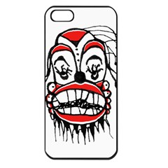 Dark Clown Drawing Apple iPhone 5 Seamless Case (Black)