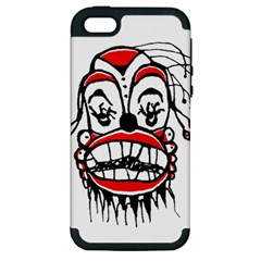 Dark Clown Drawing Apple iPhone 5 Hardshell Case (PC+Silicone)