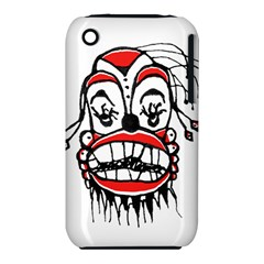 Dark Clown Drawing Apple iPhone 3G/3GS Hardshell Case (PC+Silicone)