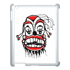 Dark Clown Drawing Apple iPad 3/4 Case (White)