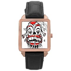 Dark Clown Drawing Rose Gold Watches