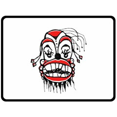Dark Clown Drawing Double Sided Fleece Blanket (Large)