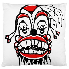 Dark Clown Drawing Large Flano Cushion Cases (Two Sides)