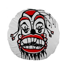 Dark Clown Drawing Standard 15  Premium Flano Round Cushions