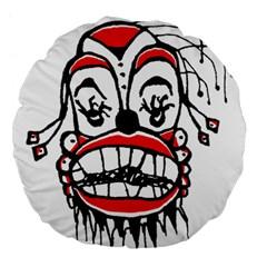 Dark Clown Drawing Large 18  Premium Flano Round Cushions