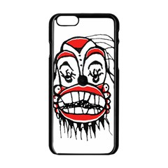 Dark Clown Drawing Apple iPhone 6/6S Black Enamel Case
