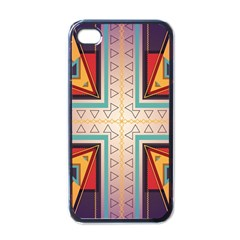 Cross and other shapes Apple iPhone 4 Case (Black)