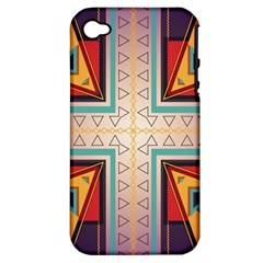 Cross and other shapes Apple iPhone 4/4S Hardshell Case (PC+Silicone)