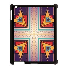 Cross and other shapes Apple iPad 3/4 Case (Black)