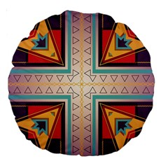 Cross and other shapes Large 18  Premium Round Cushion