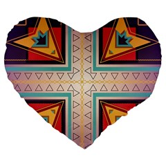 Cross and other shapes Large 19  Premium Heart Shape Cushion