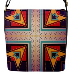 Cross and other shapes Flap Closure Messenger Bag (S)