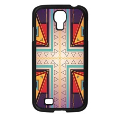 Cross and other shapes Samsung Galaxy S4 I9500/ I9505 Case (Black)