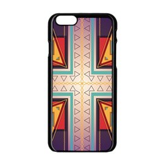 Cross and other shapes Apple iPhone 6 Black Enamel Case