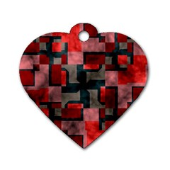 Textured shapes Dog Tag Heart (Two Sides)