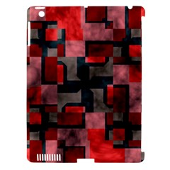Textured shapes Apple iPad 3/4 Hardshell Case (Compatible with Smart Cover)