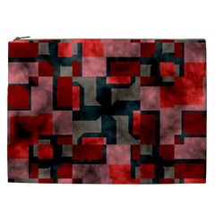 Textured shapes Cosmetic Bag (XXL)