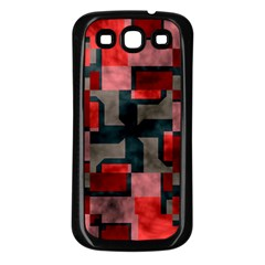 Textured shapes Samsung Galaxy S3 Back Case (Black)