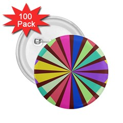 Rays in retro colors 2.25  Button (100 pack)