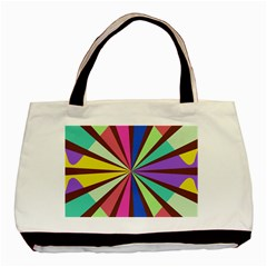 Rays in retro colors Basic Tote Bag