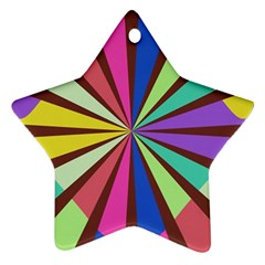 Rays in retro colors Star Ornament (Two Sides)