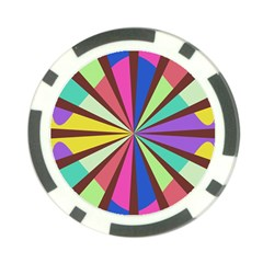 Rays in retro colors Poker Chip Card Guard