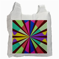 Rays in retro colors Recycle Bag (One Side)