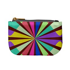 Rays in retro colors Mini Coin Purse