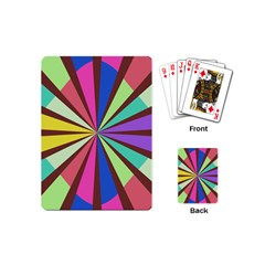 Rays in retro colors Playing Cards (Mini)
