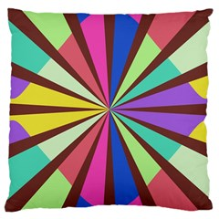 Rays in retro colors Large Cushion Case (Two Sides)