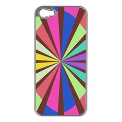 Rays in retro colors Apple iPhone 5 Case (Silver)